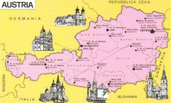 Austria Cartina Turistica.Austria Mappa Turistica