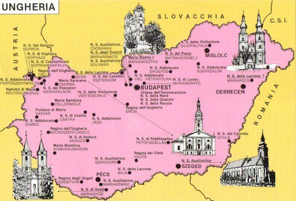 Ungheria mappa turistica - Mappa di ungheria ed europa ...