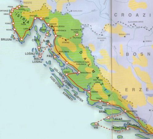 Risultati immagini per mappa dalmazia