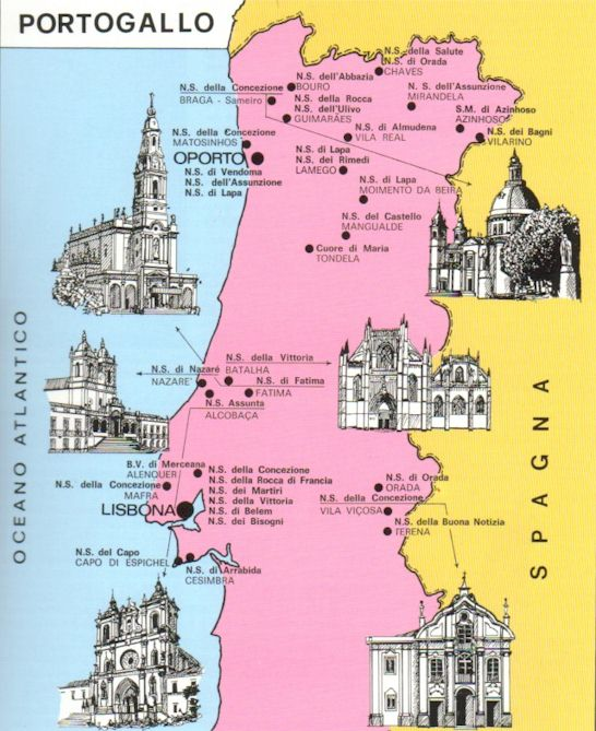 Portogallo Cartina Geografica Politica.Santuari Mariani Del Portogallo Europa